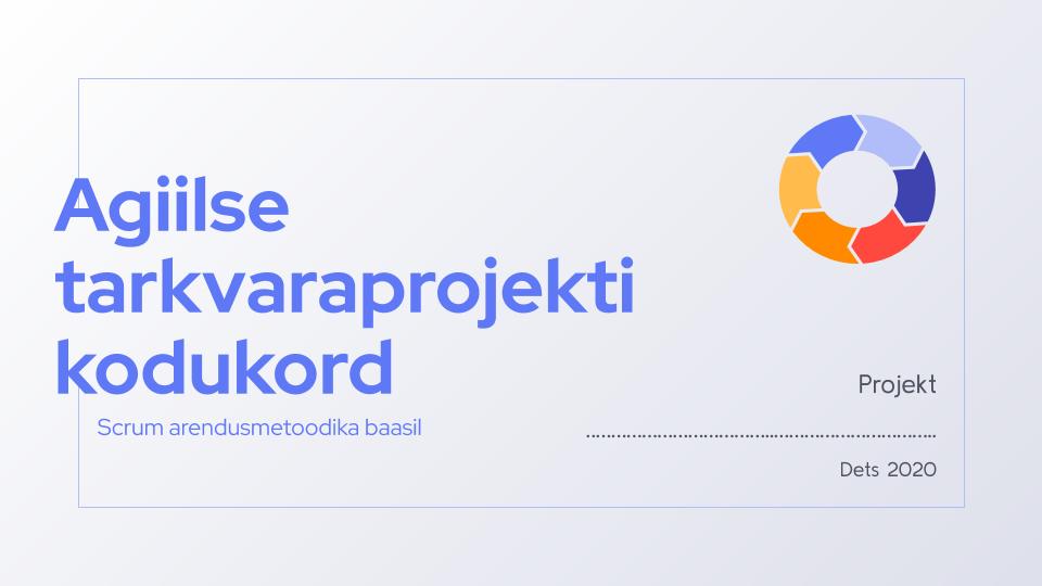 Tarkvaraprojekti kodukord